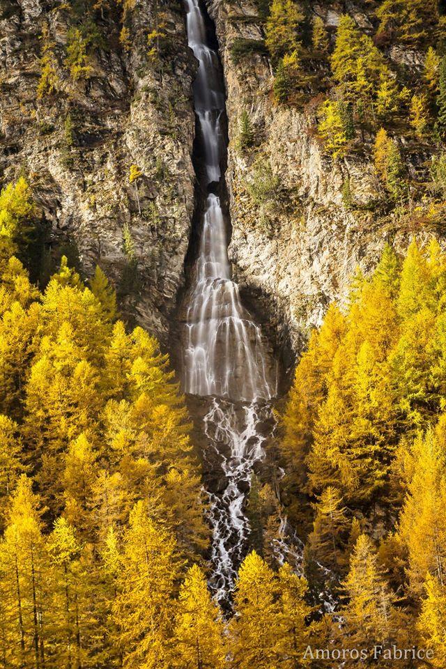 La cascade de la Pisse Ceillac Queyras